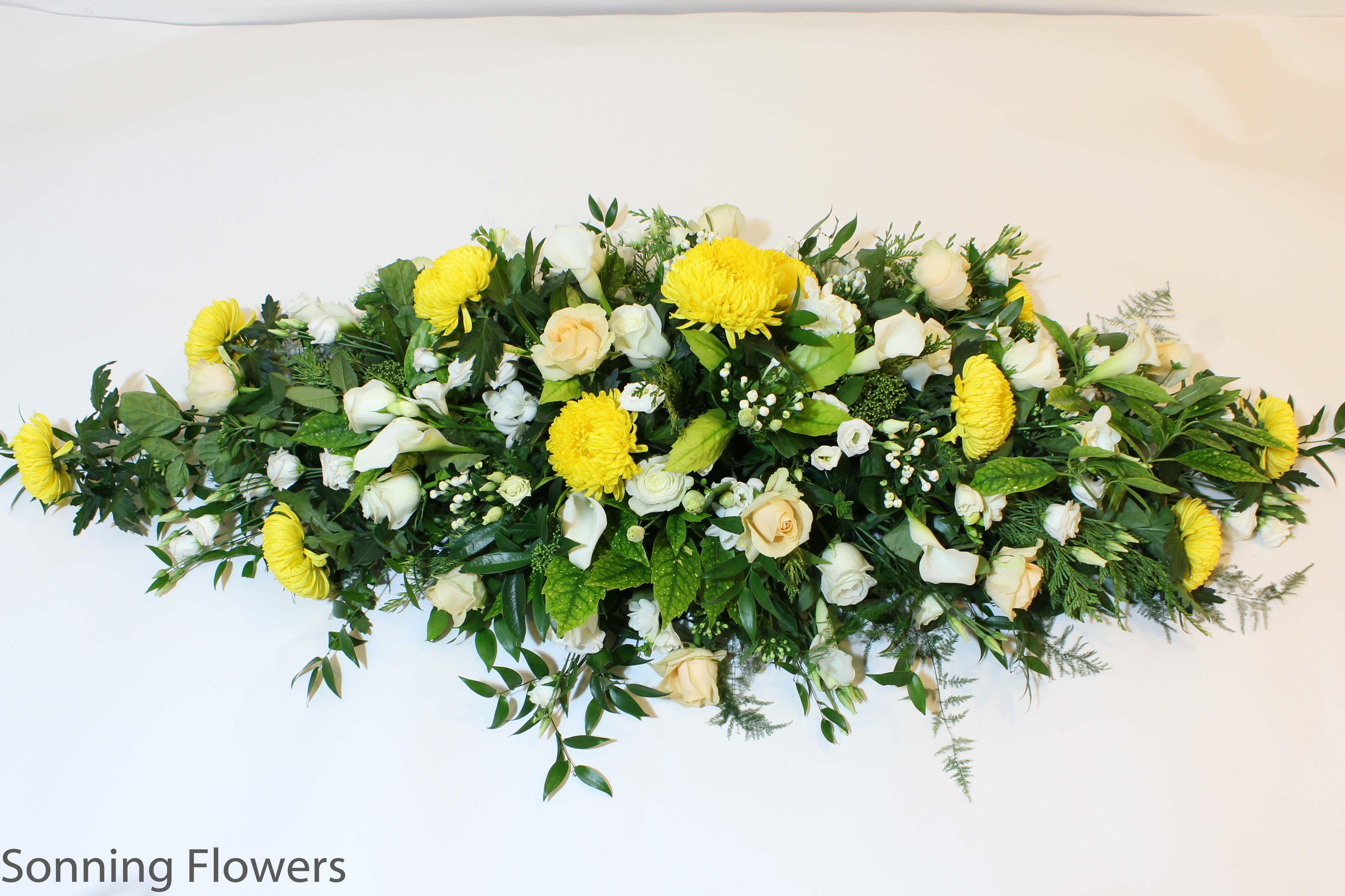 Casket sprays funeral flowers sonning flowers casket and coffin garlands casket spray funeral flowers izmirmasajfo