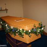 casket and coffin garlands