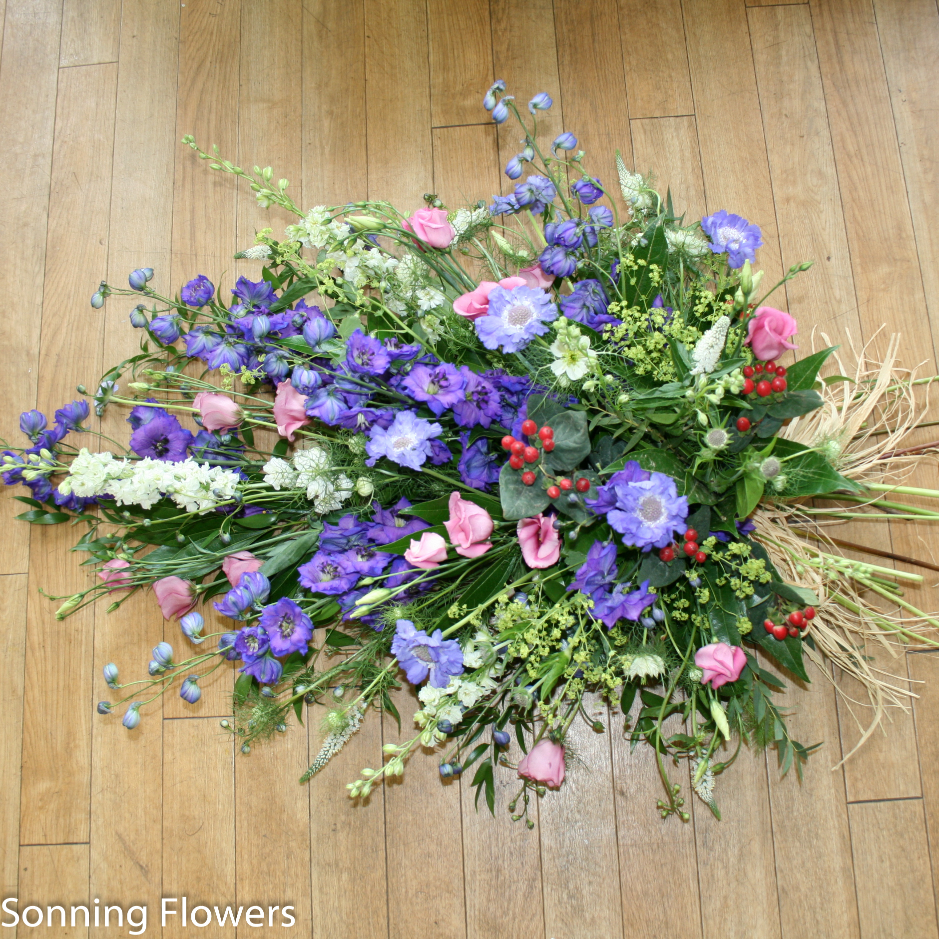 Sympathy flowers archives sonning flowers funeral spray tied bunches funeral flowers izmirmasajfo