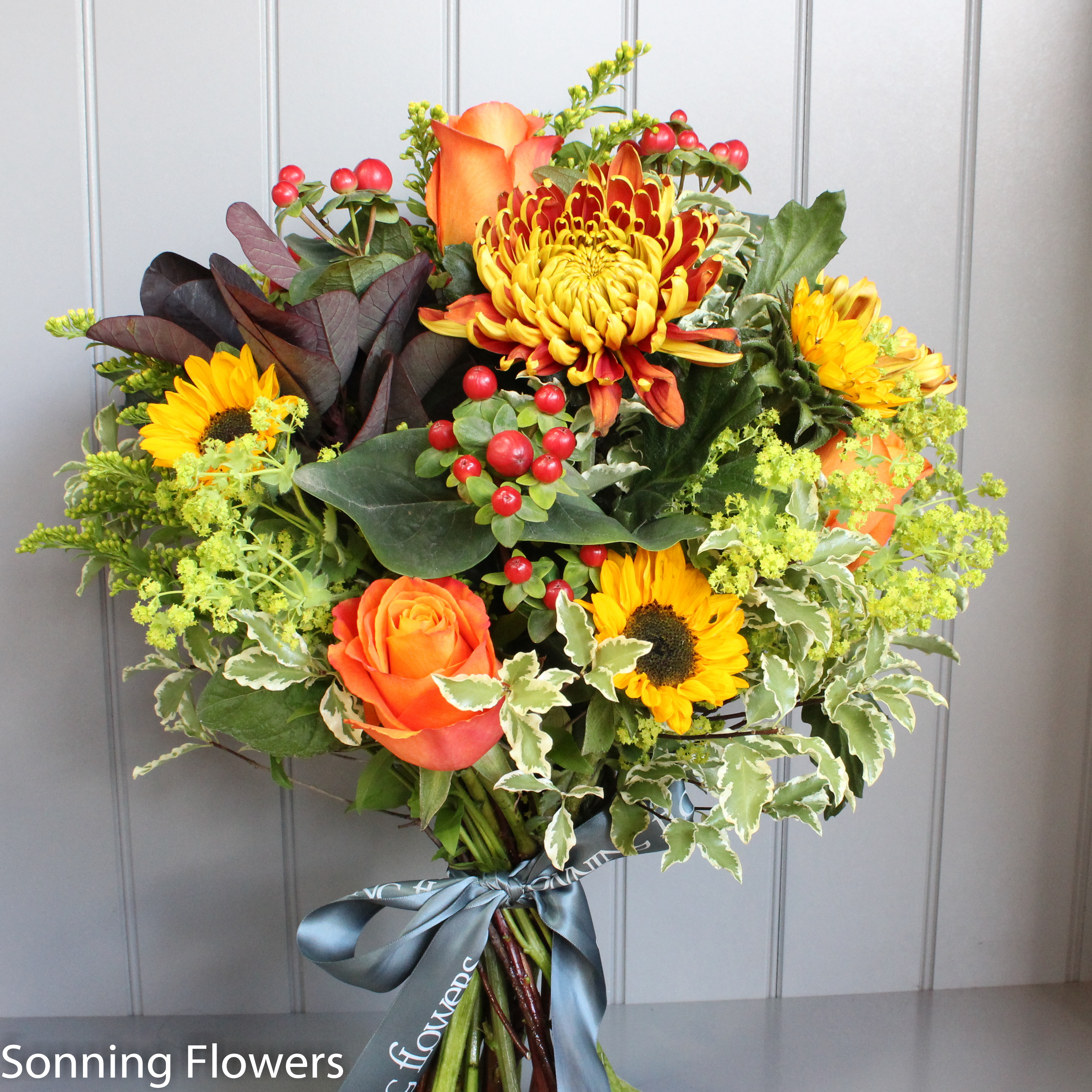 Autumn flower bouquet