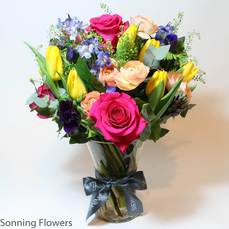 Spring flower vase